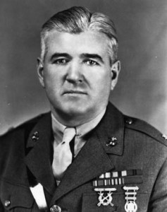 Lt. Col. Frank B. Goettge was killed moments after his doomed patrol landed in Japanese territory,