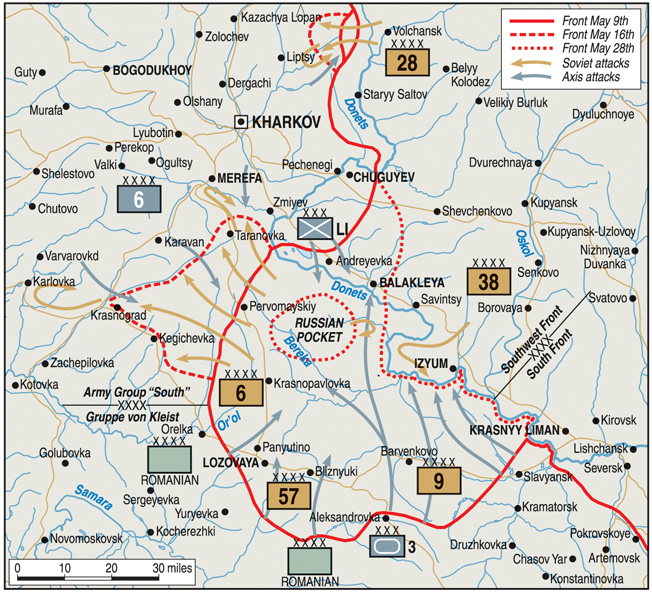 Both Soviet and German commanders formulated summer offensive plans to take advantage of the large salient in the front line around Izyum, a short distance from the key city of Kharkov.