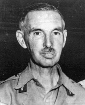 Lt. Gen. Arthur Percival, commander of British troops, surrendered Singapore's garrison.