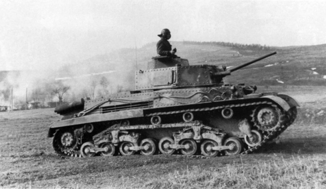The Hungarian-made Turan I was a 16-ton medium tank whose construction was based on a design from the Skoda Works in Czechoslovakia. Later int he war, its firepower would be considered negligible in clashes between armored units.