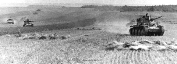 Following the renewal of major operations in the West on May 10, 1940, Czech-designed tanks of the German Army roll rapidly across France and toward the English Channel. Using Czech technology enabled the panzer arm of the Wehrmacht to deliver firepower and mobility to the front in the early days of the war.