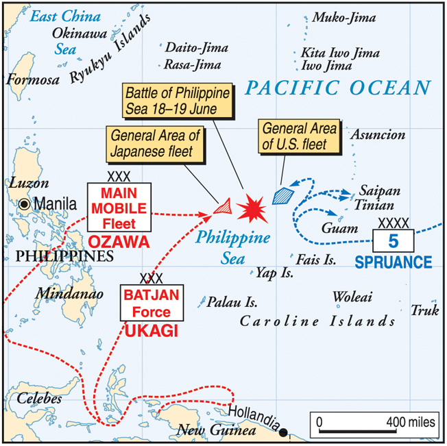 The islands of Guam, Saipan, and Tinian in the Marianas were crucial to American long-range plans for an advance against the Japanese Home Islands.