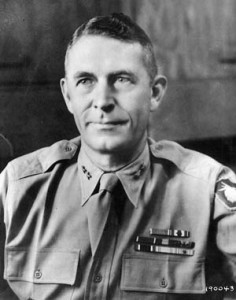 Army Maj. Gen. Ralph C. Smith was relieved of his command in a controversial decision during the Saipan operation.