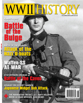 The August 2014 issue of WWII History Magazine