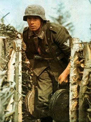 German engineer preparing to set mines.