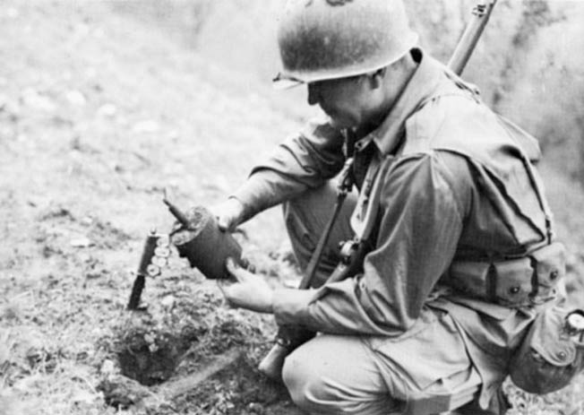 The German Army employed numerous types of land mines throughout the war.