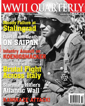 The Fall 2015 issue of WWII Quarterly Magazine.