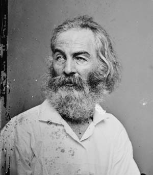 Walt Whitman, photographed by Mathew Brady in 1862.