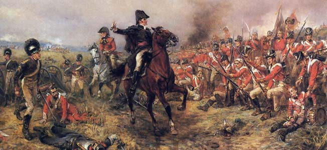 A well-timed volley and an epic cavalry charge halted Napoleon's initial assault against the Duke of Wellington during the Battle of Waterloo.