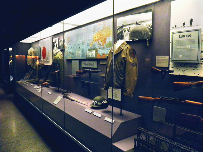 A portion of the WWII display area.