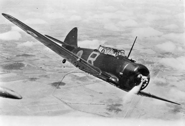 A Wirraway of the Royal Australian Air Force flies during a training mission. The Commonwealth Aircraft Corporation chose the North American NA-16, known in the United States as the T-6 trainer, to be the first Australian produced military aircraft.