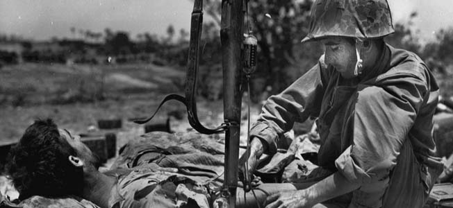 In the midst of escalating numbers of World War 2 casualties, American soldiers followed a medical care echelon system initially devised for European battlefields.