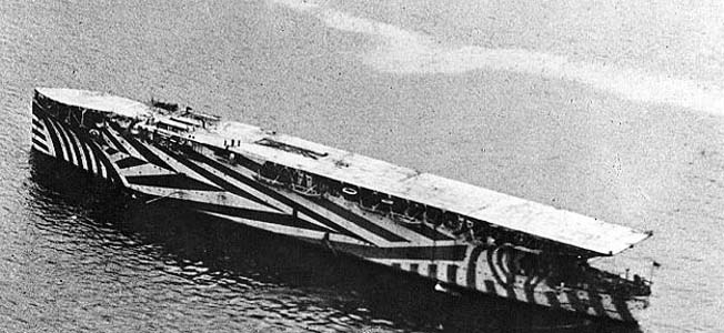 During World War I and the interwar period, both the U.S. and British Royal Navies would work to develop the world's first aircraft carriers.