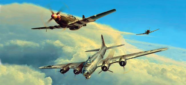 The development of long-range escort fighters was one contributor to the progress of the Allied bombing campaign against Nazi Germany.