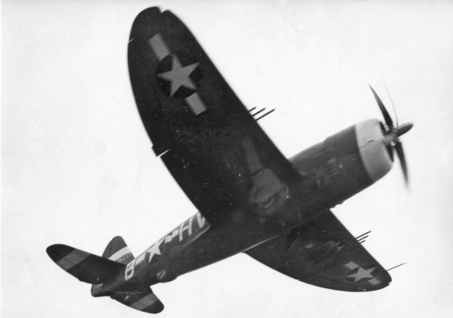 "The heavy P-47 Thunderbolt fighter was capable of absorbing tremendous battle damage and bringing its pilot home safely. Nicknamed the ""Jug,"" the P-47 also excelled in the tactical fighter bomber role."