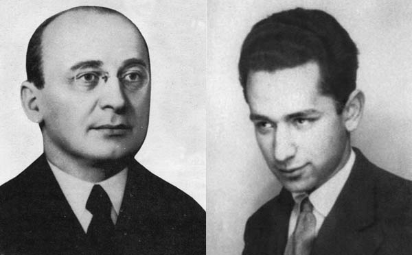 The ruthless Soviet apparatchik Lavrenti Beria (left) commanded NKGB field units, supervised the Soviet atomic weapons program. NKGB agent Josef Grigulevich (right) lived in Santa Fe, tried to assassinate Trotsky in Mexico.