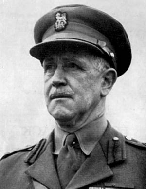 Brigadier Leslie Andrew photographed after World War II. His decision to withdraw from positions on Crete has been controversial for decades.