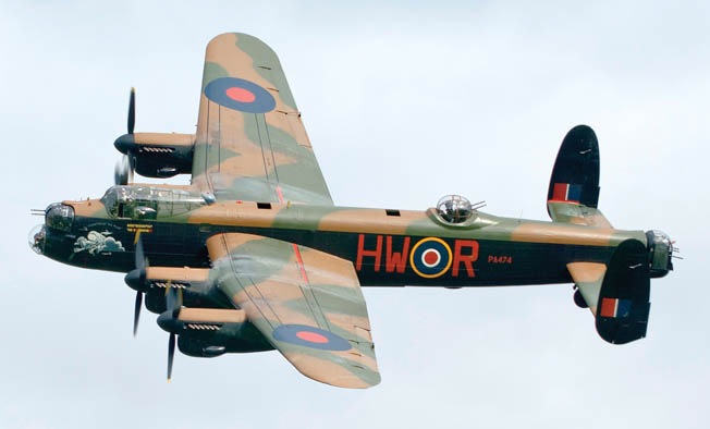 The City of Lincoln, Avro Lancaster B I PA474, has been operated by the Royal Air Force's Battle of Britain Memorial Flight since 1973. The vintage bomber's paint scheme is regularly changed to represent those of famous Lancasters from World War II.