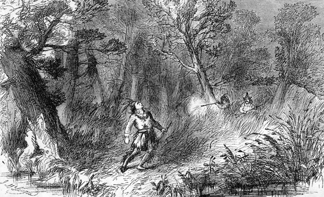 Church led the expedition that tracked down King Philip and killed him in a night attack in August 1676.