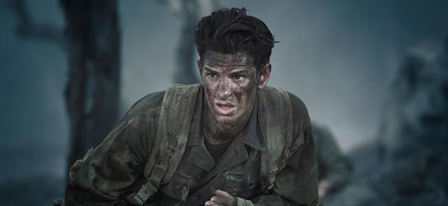 Andrew Garfield stars as Desmond Doss in the new film Hacksaw Ridge.