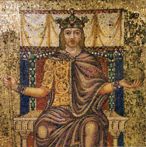 King Otto I's famous red hair is clearly visible in this mosaic.