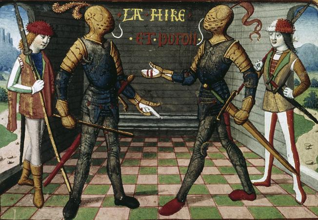Etienne de Vignolles (La Hire), left, and Jean Poton de Xaintrailles served under Joan.