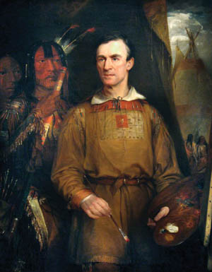 Expedition member artist George Catlin.