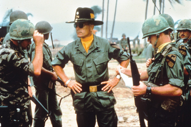 Robert Duvall (center) had an indelible role as a war-loving officer in director Francis Ford Coppola's hallucinatory 1979 epic, Apocalypse Now.