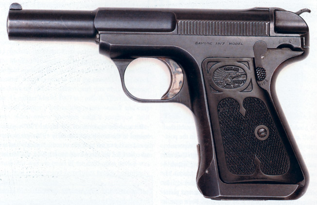 A .32-caliber Model 1917 Savage was manufactured for civilian use. Buffalo Bill Cody was a satisfied customer.