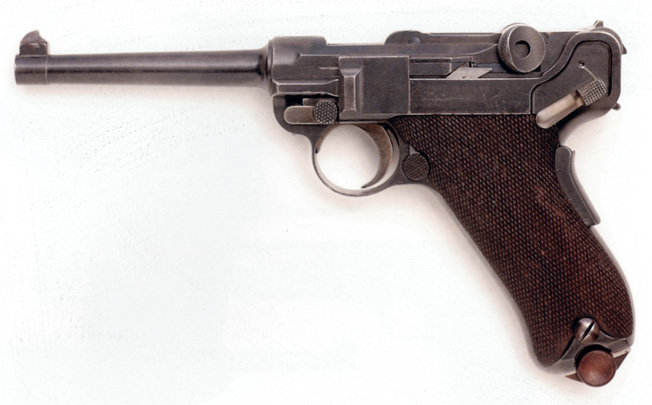 A 7.65mm Luger pistol was eliminated after the first trials.
