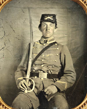 Private David M. Thatcher, Company B, 1st Virginia Cavalry.