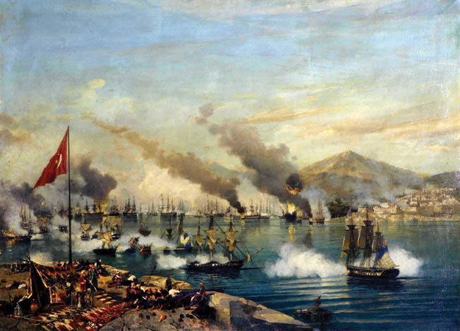 Allied warships entering the harbor had to contend not only with the Ottoman fleet's collective firepower, but also guns from the fort and shore batteries.