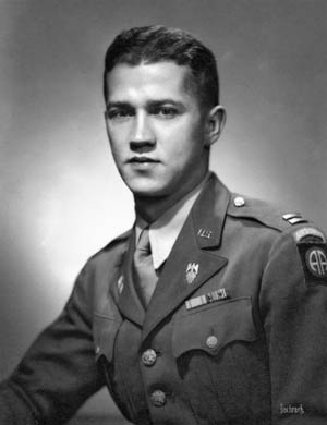 Lt. Col. Donald Faith photographed while serving as an officer in the 82nd Airborne during World War II.