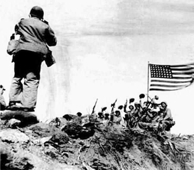Joe Rosenthal of the Associated Press captured an iconic moment in World War II history on the island of Iwo Jima.