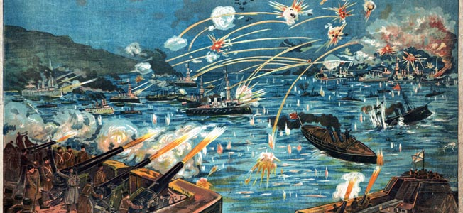 Japanese naval forces opened the Russo-Japanese War with a sneak attack on Russian ships at Port Arthur in February 1904.