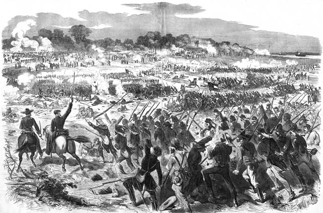 Confederate troops assaulting Malvern Hill quickly became pinned down. Their commanders knew it was suicide to proceed, but they had orders to continue the attack.