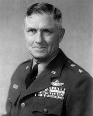 Lt. Col. Eugene L. Eubank (shown as a major general), commander of the 19th Bombardment Group.
